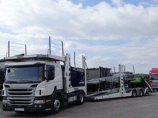 автовоз SCANIA P 410 / AUTOTRANSPORTER / ROLFO EGO 4 + ROLFO DYNAMIC 7/ RETARDE + прицеп автовоз