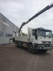 бортовой грузовик IVECO EUROTCH 240 CV 259000KM PLATEAU GRUE 14TM 10M DE PORTEE
