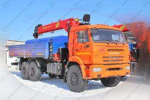 новый бортовой грузовик КАМАЗ   43118-3027-50 с КМУ ИТ-150 (тросовый)