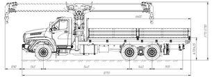 бортовой грузовик УРАЛ NEXT 73945-6921-01М36 (6*4)