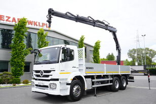 бортовой грузовик MERCEDES-BENZ Axor 2633 , E5 , 6X4 , box 6,5m , CRANE HIAB 10m-5.000kg , rotat