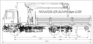 бортовой грузовик МАЗ  631226-525-042 (Евро-5) + SOOSAN SCS746L верх.упр. + бор