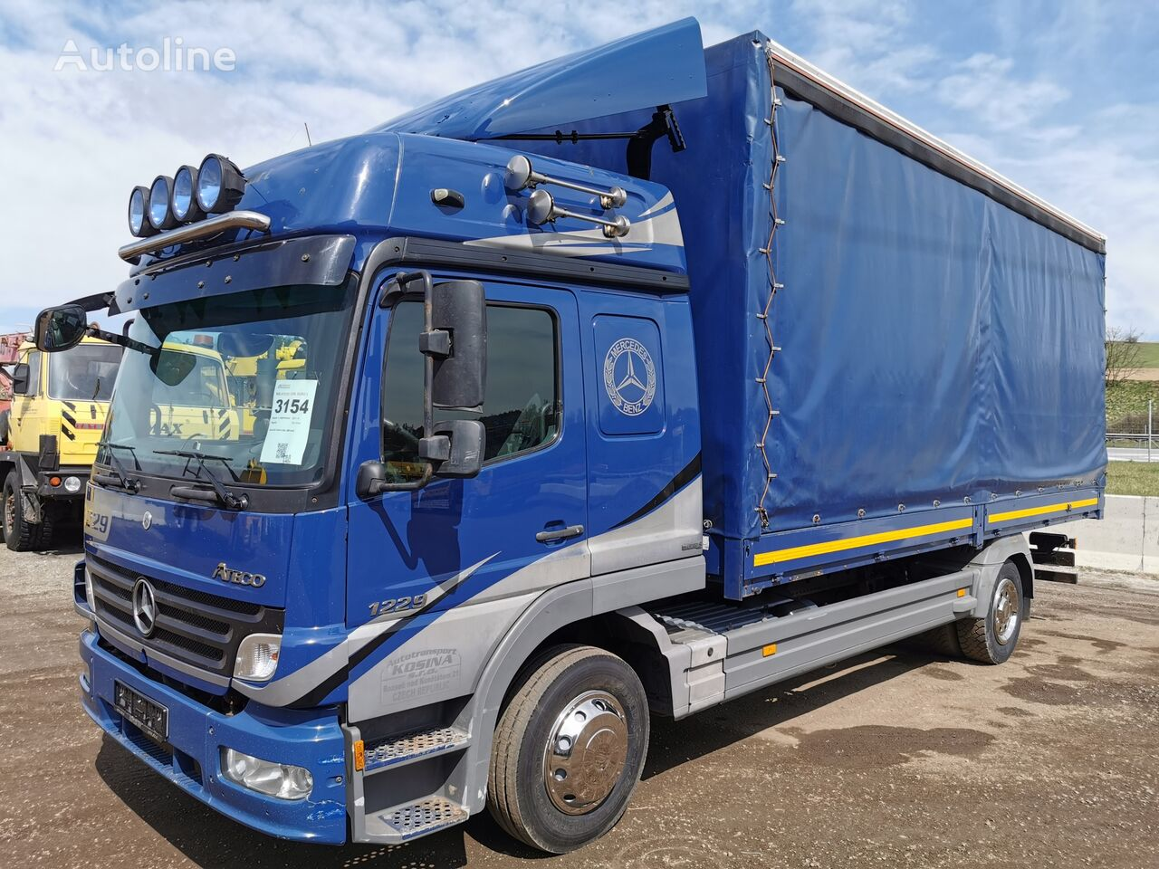 грузовик штора MERCEDES-BENZ ATEGO 1229L
