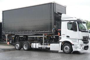 контейнеровоз MERCEDES-BENZ Antos 2543 E6 6x2 BDF / Wilhelm Wellmeyer / lifting frame + fift