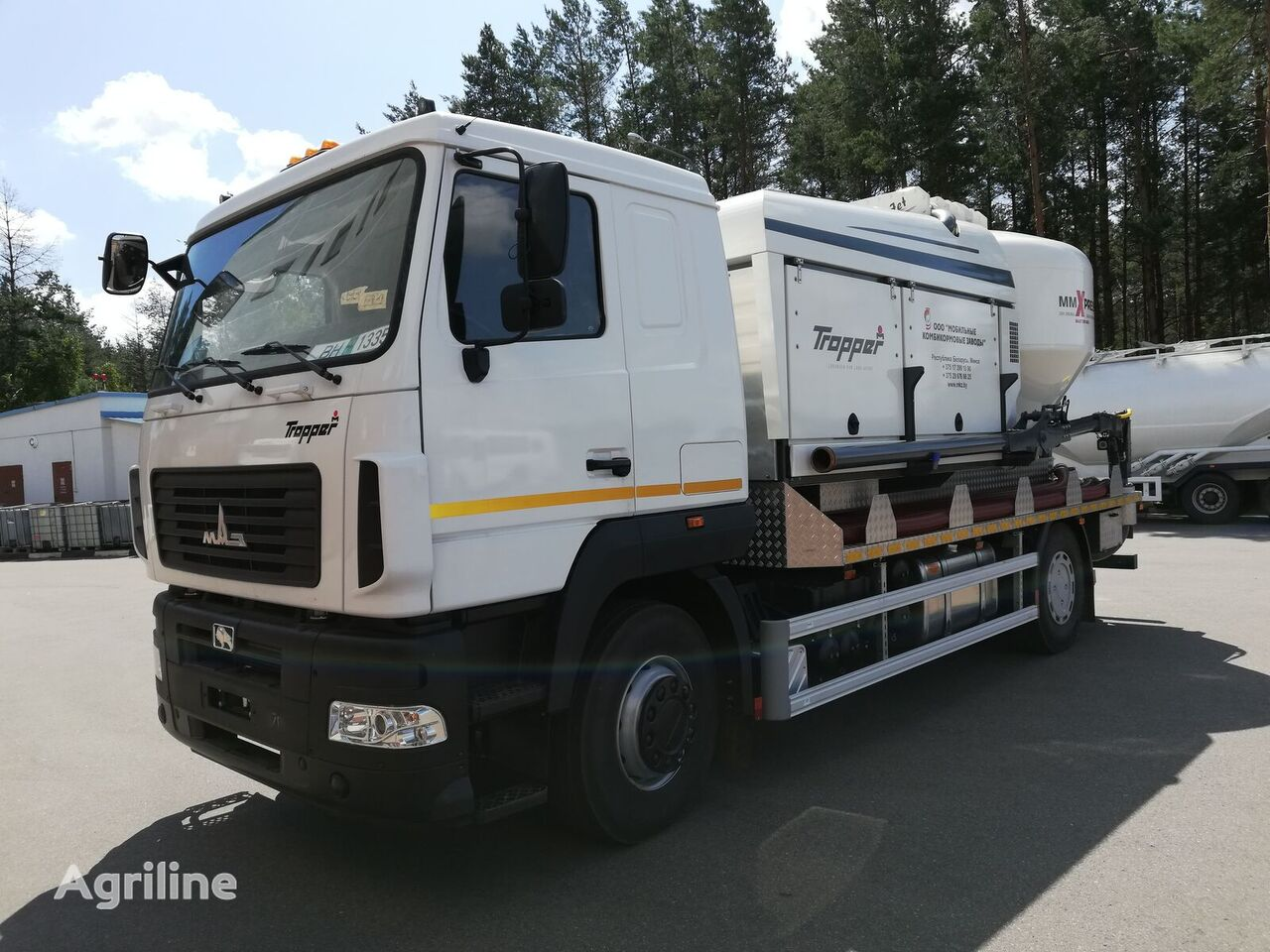 новый мобильный комбикормовый завод МКЗ-3214 на шасси МАЗ
